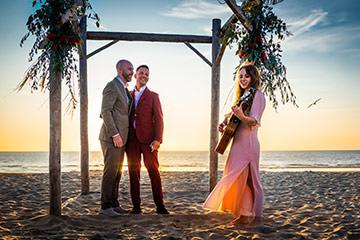 Homo bruiloft bij Hippie Fish Zandvoort