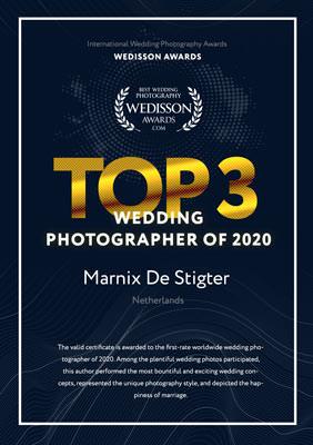 De beste trouwfotograaf van 2020